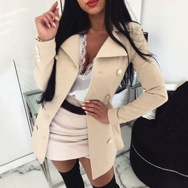 High Quality Wool Coat Women Winter Warm Coat Plus Size Womens Lady Long Sleeve Button Long Coats Casual Jacket Outwear#g3 2