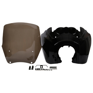 """Image 3 - Motorcycle Front Fairing w/ 15"""" Windshield For Harley Dyna Wide Glide Low Rider Street Bob FXDL FXDXT T Sport"""