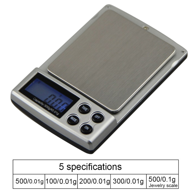 Junejour Mini Portable Jewelry Scale LCD Electronic Pocket Digital Gold Sliver Diamond Weighing Weight Sacles 0.01g Precision