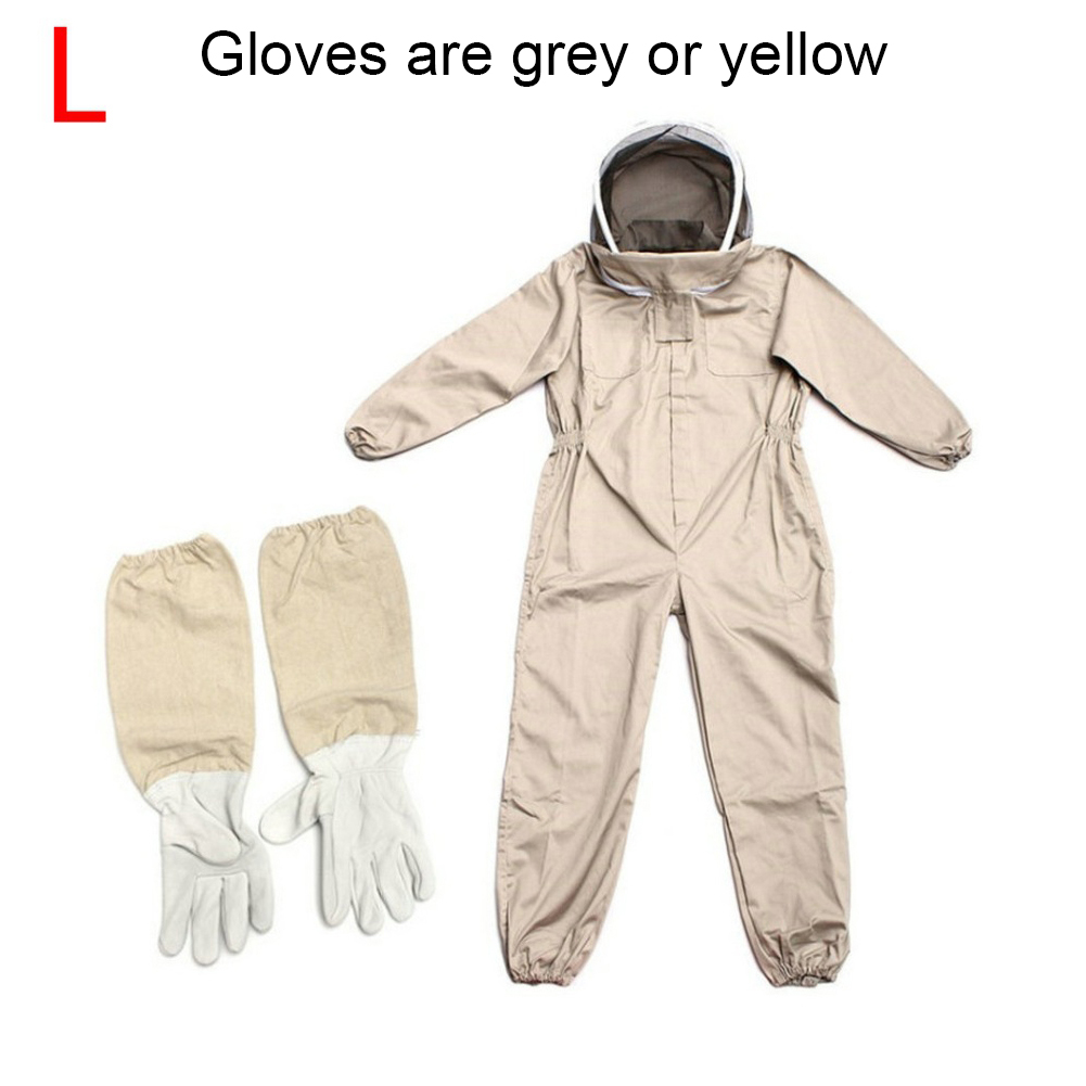With Glove Professional Outfit Safety Ventilated Veil Hood Protective Clothing Farm Full Body Garden Beekeeping Suit Bee Proof