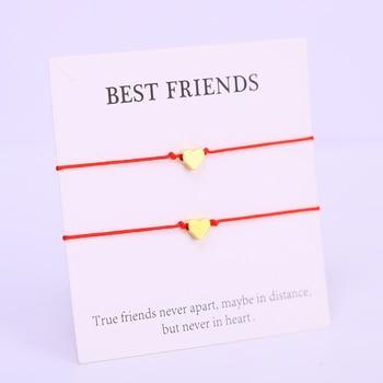 bracelet amitié coeur