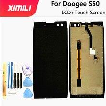 5.7 بوصة ل Doogee S50 شاشة الكريستال السائل + شاشة تعمل باللمس ل Doogee S50 100% اختبار شاشة محول الأرقام الجمعية استبدال أدوات مجانية