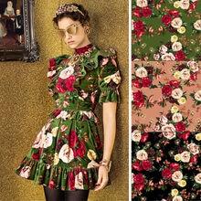 150cm width gold velvet fabric brand digital printing shirt dress fabric meter fashion handmade DIY polyester fabric cloth