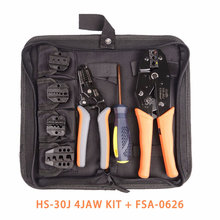 HS-30J+4JAW set multifunctional ratchet Crimping pliers Kits crimpers Wire Stripper Cable Cutters crimping tool