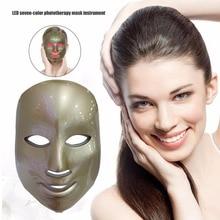 Корейская фотодинамическая светодиодный маска для лица для домашнего использования инструмент красоты против прыщей, для омоложения кожи светодиодный фотодинамическая маска для лица