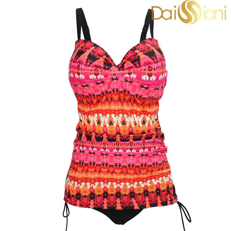 Новые цветочные печатные женские цельные купальники большого размера купальник для полных женщин плюс размер Купальник Одежда для пляжа