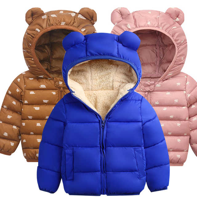 New 2019 Autumn Winter Cotton Jacket For Baby Girls Coat Kids Warm Hooded Outerwear For Boys Jacket Coat Infant Children Clothes
