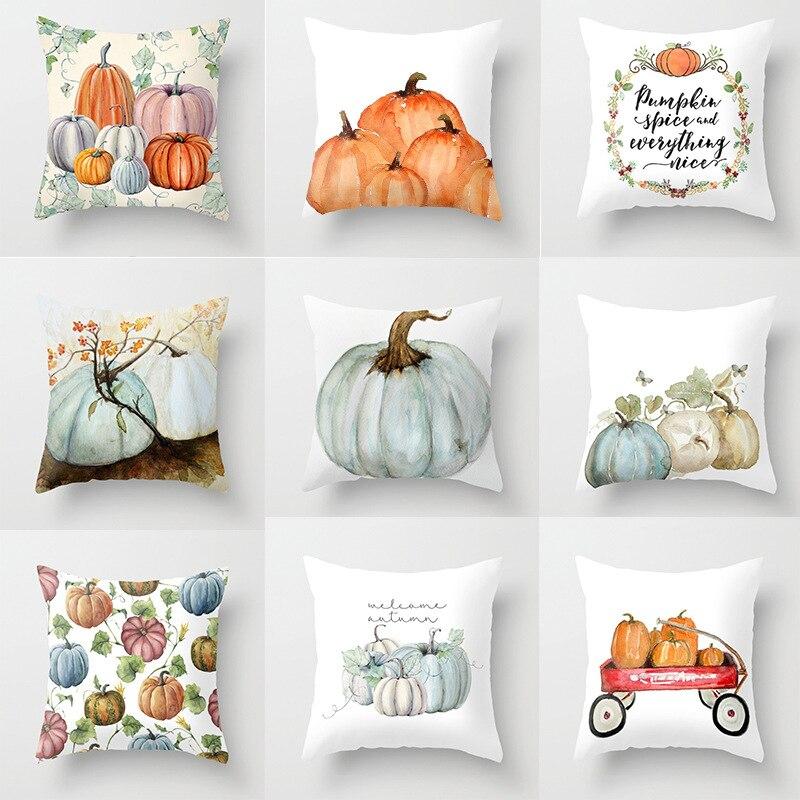 Selling Thanksgiving Pumpkin Series Home Decoration Pillow Cushion Halloween Pillow Case