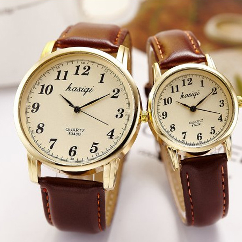 парные часы Hot Fashion Lovers Watches Men Women Casual Leather Strap Quartz Wristwatch Couple Watch Gifts Relogios Femininos