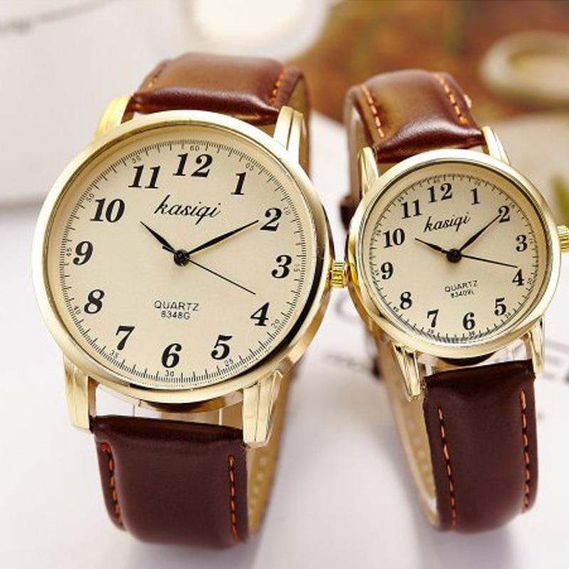 парные часы Hot Fashion Lovers Watches Men Women Casual Leather Strap Quartz Wristwatch Couple Watch Gifts Relogios Femininos