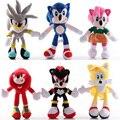 Высокое качество 27 см голубой плюшевый Соник игрушки куклы Мягкие Sonic зубная щётка мягкие Животные герои детские игрушки brinquedos