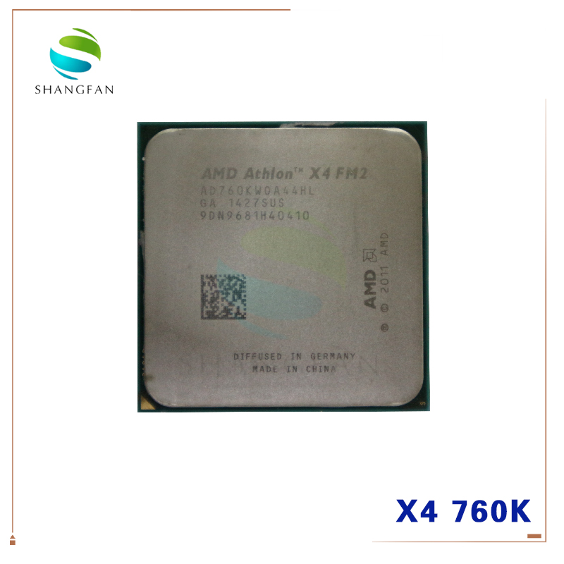 AMD Athlon  X4 760 X4 760K X4-760K AD760KWOA44HL Quad-Core  3.8GHz 4MB 100W Quad-Core CPU Processor Socket FM2