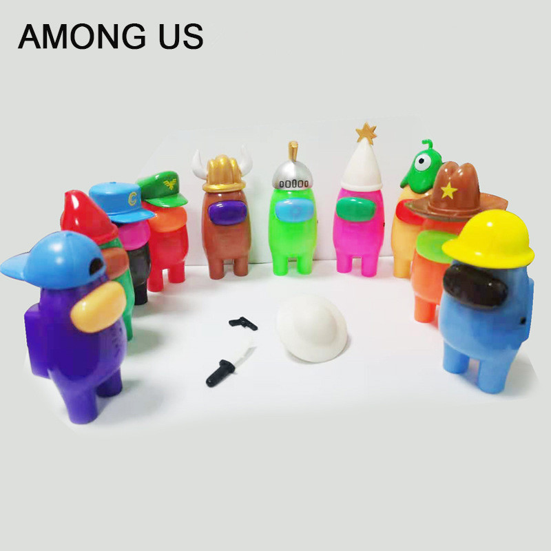 1 pc Hot Game Among Us steam space impostor crewmates PVC Action Figures Model Toys Computer Desktop Dolls Gifts-0