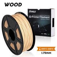 3D Printer Serat Kayu Filamen 1.75 Mm 1Kg/Roll 2.2LB Baru Diy Hadiah Kayu Efek Terjemahan dengan PLA nyata Seperti Kayu Warna