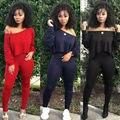 Mulheres Define Mulheres Preto Vermelho Amarelo 2 pcs Agasalho de Algodão Pullover Verão Combina Com roupa de Duas Peças Das Mulheres fatos de Treino