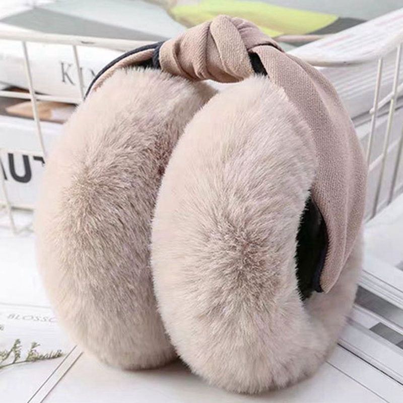 Foldable Earmuffs Women Girl Fur Plush Ear Warmer Muffs Headband Cartoon
