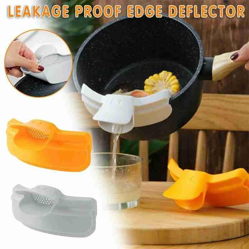 1pc Round Mouth Edge Deflector Duckbill Leakproof Kitchenware Pot Liquid Deflector Soup Pourer Kitchen Tools Kichen Accessories 1