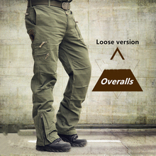 Tactical Pants Army Male Camo Jogger Plus Size Cotton Trousers Many Pocket Zip M