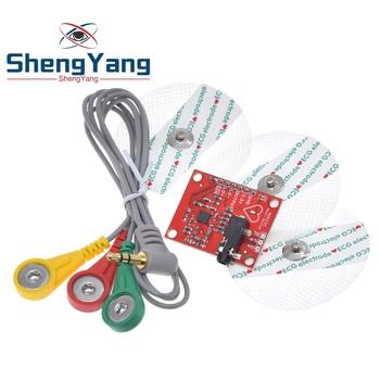 ShengYang moduł ekg AD8232 ekg pomiar pulsu serca ekg moduł czujnika monitorowania zestaw do Arduino tanie i dobre opinie CN (pochodzenie) Nowy REGULATOR NAPIĘCIA do komputera