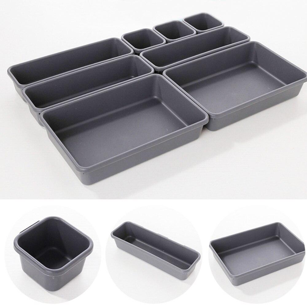 8 pçs/pçs/set ajustável gaveta organizador caixa bandejas compõem cosméticos diversos divisor titular cozinha banheiro armário caixa de jóias