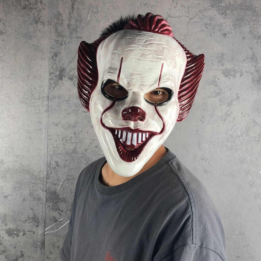 Del Partito di Halloween Cosplay Maschera Maschera di Orrore Pennywise Joker Maschera Cosplay esso capitolo 2 Clown Pvc Maschere Puntelli Costume Deluxe