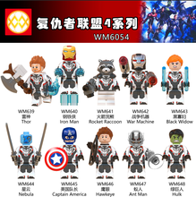 WM6054 Marvel Avengers4 Endgame Infinity War Hawkeye Raccoon Machine Black Widow Nebula Ant Man Pop Figures Blocks Kids Toys