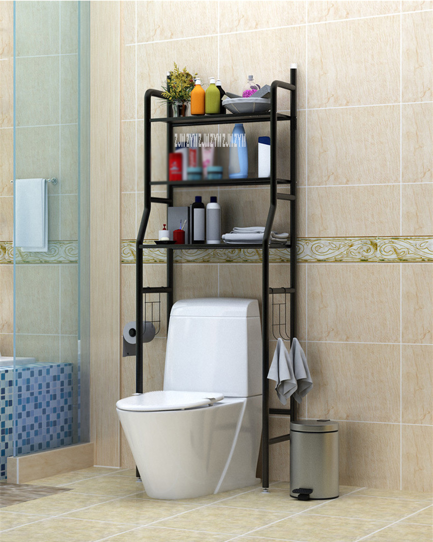 landing Type Bathroom Organizer Made With Metal Finish For Shampoo And Towel Accessory 7