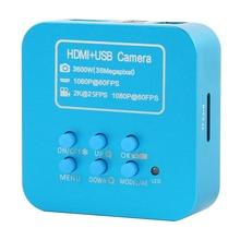 2019 Upgrade 36MP FHD 2K 1080P 60FPS HDMI USB Digital Industrial C Mount Video Microscope Camera For Phone CPU PCB Soldering цены онлайн