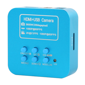 2020 Upgrade 36MP FHD 2K 1080P 60FPS HDMI USB Digital Industrial C Mount Video Microscope Camera For Phone CPU PCB Soldering