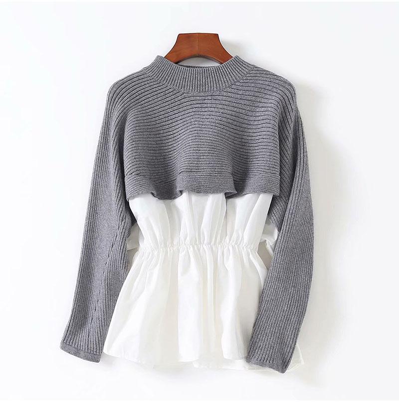 Women Long sleeve O-Neck Casual Knitted Tassel Bodycon Irregular Loose Sweater