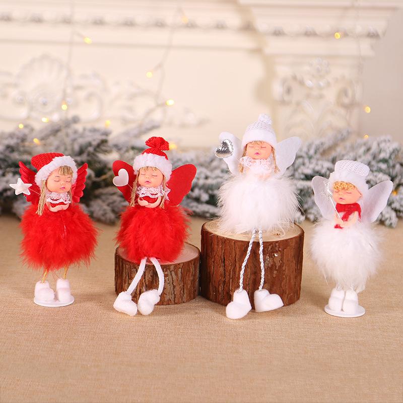 New Year 2020 Merry Christmas Ornaments Christmas Angel Elf White Christmas Decorations for Tree Toy Xmas Decor Swiateczne Natal 22