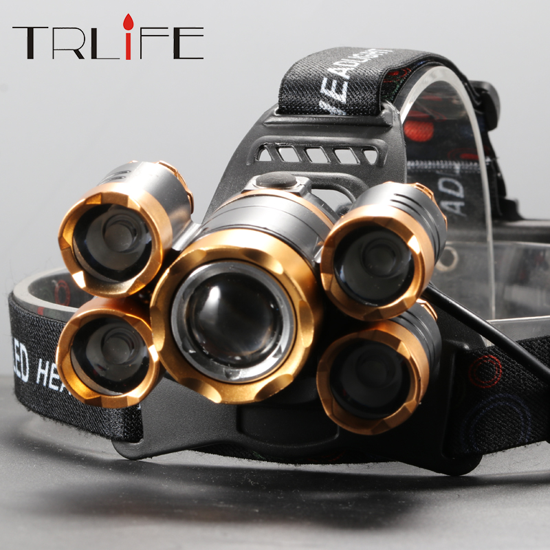 70000LM LED Headlamp Ultra Bright 5T6 Zoom Headlight 18650 Head Lamp Torch 4 Modes Rechargeable Forehead Light For Fishing