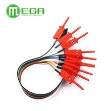 10 шт. высокоэффективный тестовый крючок-зажим для логического анализатора, зажим для кабеля, тестовый зонд, комплект зажимов для USB 24 м 8 кана...