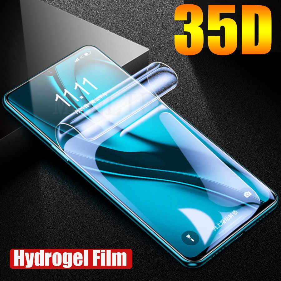 35D Mặt Trước Sau Silicone Mềm TPU Cho Samsung Galaxy S20 Cực S20 S20 Plus S10 A50 A70 Miếng Dán Hydrogel tấm Bảo Vệ Màn Hình