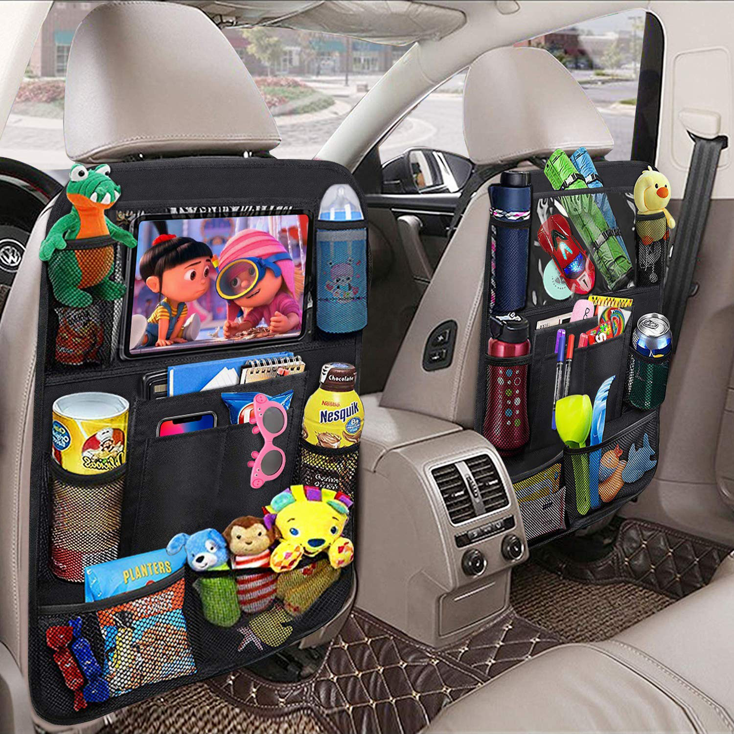 Universal Car Seat Back Organizer Multi-Pocket Storage Bag Tablet Holder Automobiles Interior Car Accessory Stowing Tidying