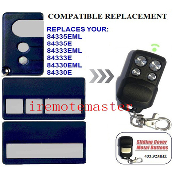 FOR  84335EML,84335E,84333EML replacement garage door remote control 433.92MHZ