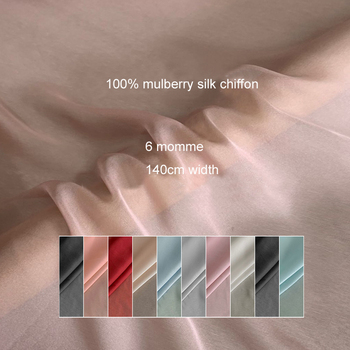 Bufanda de 100cm * 140cm con forro de seda de color liso, tela seda chifón suave y ligera