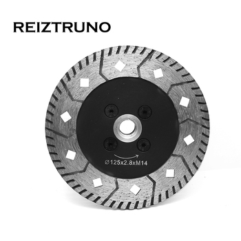 REIZTRUNO 5 Dual Turbo Circular Saw Cutter Diamond Grinding Wheel Angle Grinder Saw Blades for granite concrete with flange