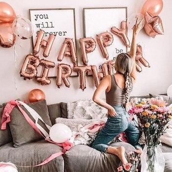 13 sztuk/partia 16 calowy Slim balon w kształcie litery Multicolor alfabet z balonów foliowych z okazji urodzin balony Globos z bezpłatnym dostaw