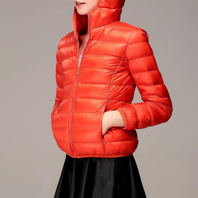 S-8XL 2020 Winter Jackets Women White Duck Down Jacket Female Padded Hooded Parkas Coat Ultra Light Portable Down Coats Casacos 5