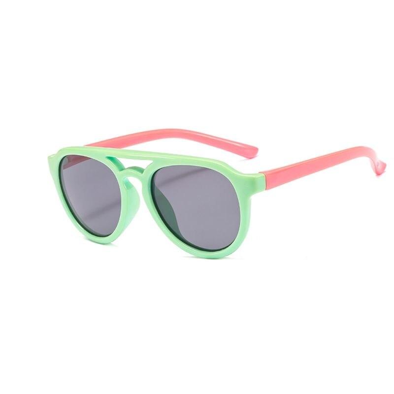 Детские солнечные очки мальчикам и девочкам, силиконовые очки солнечные очки тёмные очки для От 4 до 12 лет Детская R9CF - Цвет линз: 4