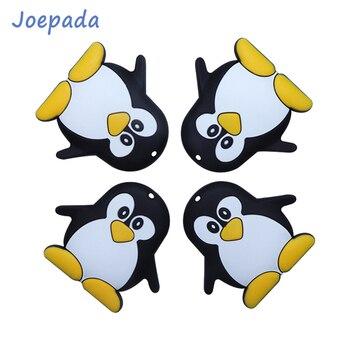 Joepada 1/5/10 Sztuk Cartoon Penguin Silikonowy Gryzak Dla Niemowląt Dla Niemowląt Silikonowe Koraliki Gryzaki Silikon Bez BPA Ząbkowanie Koraliki