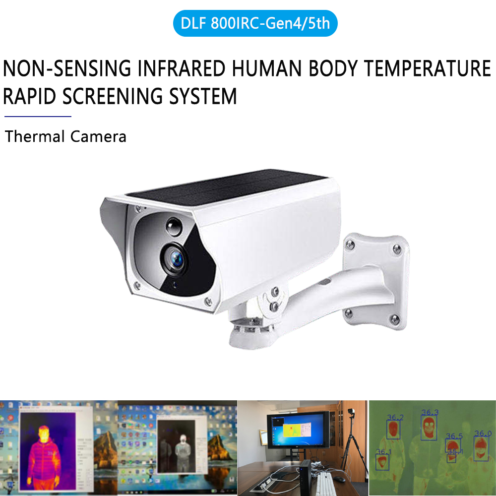 Compact Infrared Thermal Camera Thermometer In 6M Remote Measurement With High Temperature Rapid Screening Warning System
