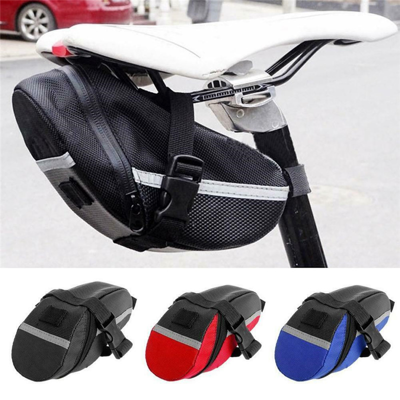 Bicycle Waterproof Storage Saddle Bag Bike Seat Cycling Rear Pouch Outdoor UK