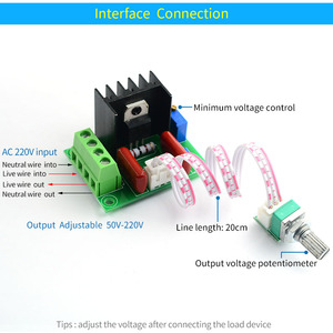 Image 3 - UNISIAN  2000W PWM Motor Speed Controller Power module High Power Controller Board Output Voltage Adjustable AC50V 220V