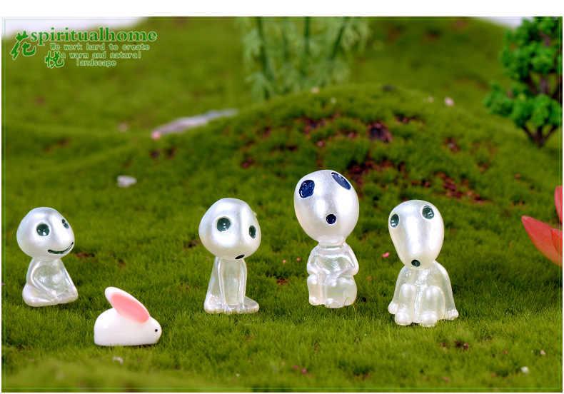 Действие смолы светящиеся игрушки Хаяо Миядзаки аниме Mononoke Hime светящаяся дерево дух модель светящиеся игрушки ночные огни светящиеся инопланетяне