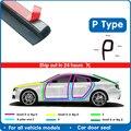 P Тип двери автомобиля резиновое уплотнение прокладки шумоизоляция двери автомобиля уплотнительная полоса уплотнительная прокладка Анти-пыль резиновые уплотнения двери автомобиля - фото