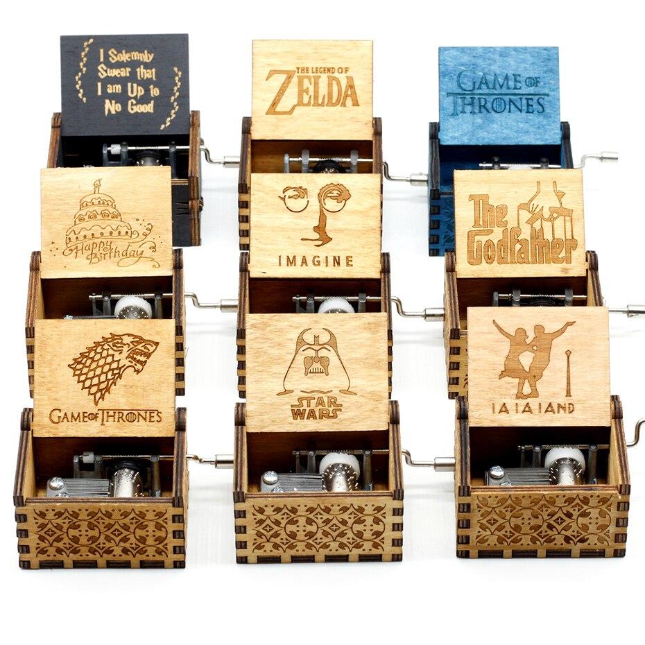 Новая музыкальная шкатулка Juego De Tronos Star Wars, игра в тронный замок в небо, деревянная музыкальная шкатулка, рождественский подарок