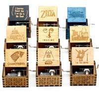 2019 nuevo Juego De Tronos Star Wars Juego De Tronos caja De música Castillo en el cielo caja De música De madera con manivela regalo De Navidad