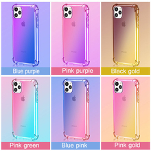 2019 new case For Apple iphone 11 mobile phone shell gradient anti-drop for xr Soft TPU colorful Case Cover